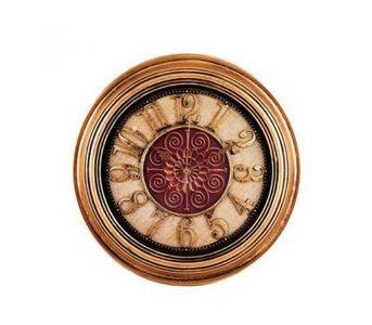 """Antique Hollow Wall Clock - Bronze - 14x14\"""""""