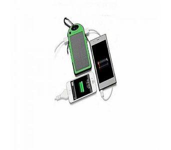 SOLAR AND ELECTRIC POWER BANK WATERPROOF 10000MAH GREEN