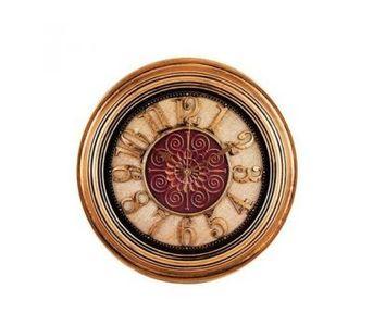 "Antique Floral Center Vintage Bronze Silent Roman Wall Clock Quartz Non Ticking - 14X14\"""