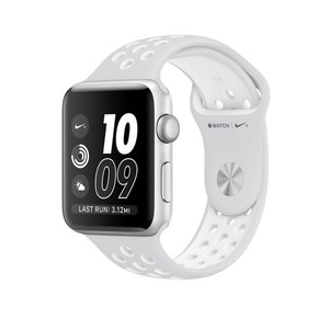 Apple Watch Nike+ Silver Aluminum Case with Pure Platinum/White Nike Sport Band(MQ192LL/A)