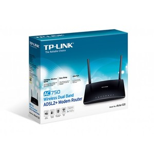 TP-Link Archer D20 AC750 Wireless Dual Band ADSL2 + Modem Router