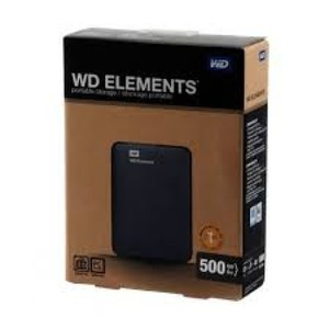 Western Digital Portable External Hard Drive WD ELEMENT 500GB