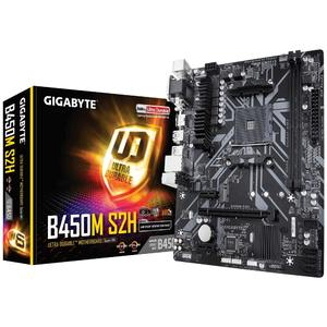 GIGABYTE B450M-S2H AMD AM4 Gaming LAN and Bandwidth Management  PCIe Gen3 x4 M.2  7-colors RGB LED Strips Support  Anti-Sulfur Resistor Design Ultra Durable Motherboard