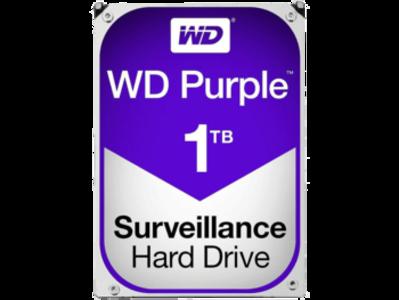 Western Digital Purple 1TB Surveillance Hard Disk Drive – 5400 RPM SATA 6 Gb/s 64MB Cache 3.5 Inch (WD10PURX)