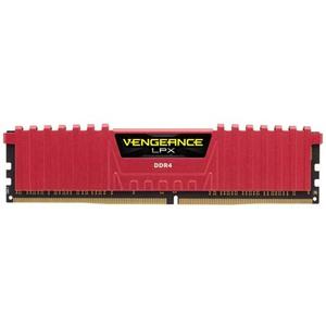 Corsair Vengeance® LPX 4GB (1x4GB) DDR4 DRAM 2400MHz C14 Memory Kit – Red (CMK4GX4M1A2400C14R)