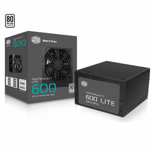 Cooler Master MasterWatt Lite 600W 230V 80 PLUS Certified Power Supply