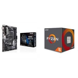 AMD Ryzen 5 2600X + ASUS Prime B450-PLUS Gaming Motherboard Bundle