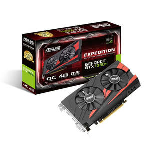 ASUS Expedition eSports GeForce GTX 1050 Ti OC 4GB GDDR5 (EX-GTX1050TI-O4G)