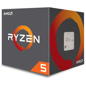 AMD Ryzen 5 2600X 3.6 GHz Six-Core AM4 Processor with Wraith Spire Cooler