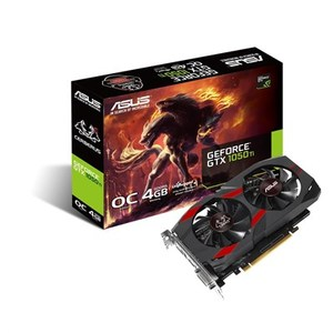 ASUS CERBERUS-GTX1050TI-O4G GDDR5 4GB 128-bit Powered By NVIDIA GeForce GTX 1050 TI