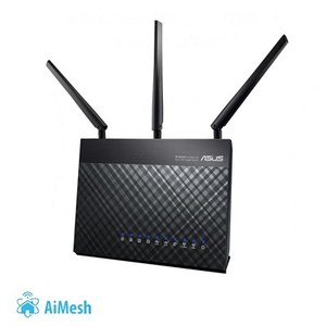 ASUS RT-AC68U 802.11ac Dual-Band Wireless-AC1900 Gigabit Router with AiMesh and AiProtection