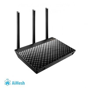 ASUS RT-AC66U B1 802.11ac Dual-Band Wireless-AC1750 Gigabit Router with AiMesh and AiProtection