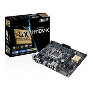 ASUS H110M-K INTEL LGA-1151 H110 DDR4 2400MHz 5X PROTECTION II LED LIGHTING mATX MOTHERBOARD