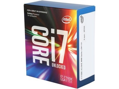 Intel® Core i7-7700K Kaby Lake Unlocked Processor (8M Cache  up to 4.20 GHz) SR33A
