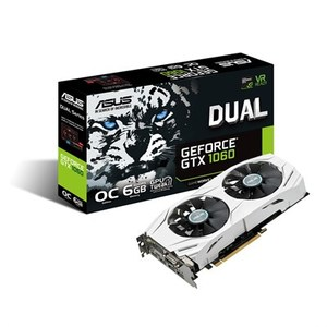 ASUS DUAL-GTX1060-O6G-GAMING GDDR5 6GB 192-bit Powered By NVIDIA GeForce GTX 1060