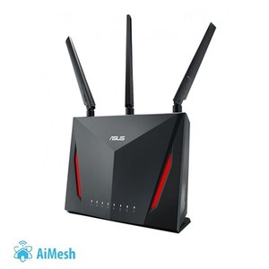 ASUS RT-AC86U 802.11ac Dual-Band Wireless-AC2900 Gigabit Gaming Router with WTFast Game Accelerator