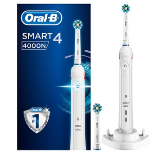 Oral-B Smart 4 4000N CrossAction Electric Toothbrush Rechargeable