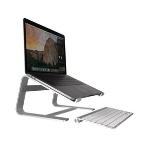 Macally Aluminum Horizontal Laptop Stand for Laptops and Macbooks up to 17