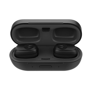 Motorola Stream True Wireless Stereo Earbuds with Charger Case (Black)