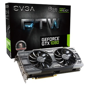 EVGA GeForce GTX 1080 FTW Gaming  8GB GDDR5X  ACX 3.0 & RGB LED Graphics Card