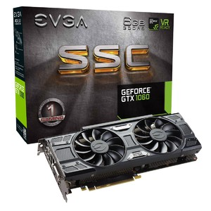 EVGA GeForce GTX 1060 SSC Gaming  6GB GDDR5  ACX 3.0 & LED Graphics Card