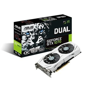 ASUS Dual GeForce GTX 1070 Graphics Card - DUAL-GTX1070-O8G