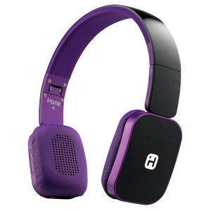 iHome iB86 Foldable Bluetooth Wireless Headphone with Mic + Remote Control