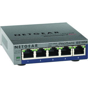 NETGEAR ProSafe Plus 5-Port 10/100/1000 Gigabit Ethernet Switch