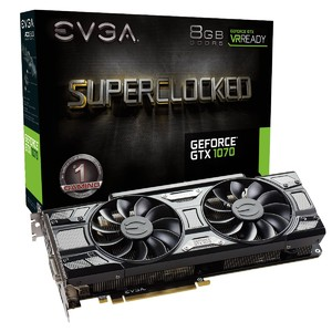 EVGA GeForce GTX 1070 SC Gaming  8GB GDDR5  ACX 3.0 & Black Edition Graphics Card