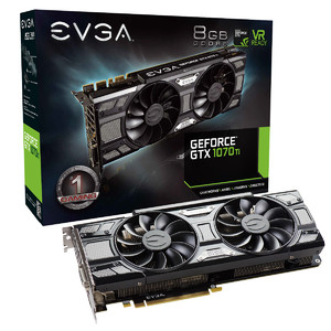 EVGA GeForce GTX 1070 Ti SC Gaming  8GB GDDR5  ACX 3.0 & Black Edition Graphics Card