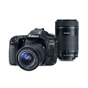 Canon EOS 80D EF-S 18-55mm IS STM + EF-S 55-250mm f/4-5.6 IS STM Lens