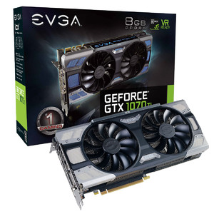 EVGA GeForce GTX 1070 Ti FTW2 Gaming  8GB GDDR5  iCX - 9 Thermal Sensors & RGB LED G/P/M Graphics Card