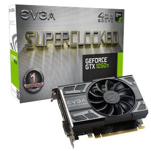 EVGA GeForce GTX 1050 Ti SC Gaming  4GB GDDR5  ACX 2.0 (Single Fan) Graphics Card
