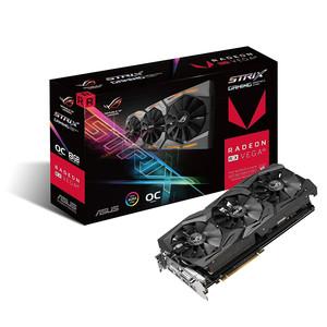 Asus ROG STRIX Radeon RX Vega64 8GB OC Edition VR Ready 5K HD Gaming Graphics Card