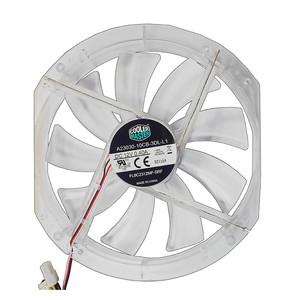 Cooler Master 230mm Red LED Transparent Fan