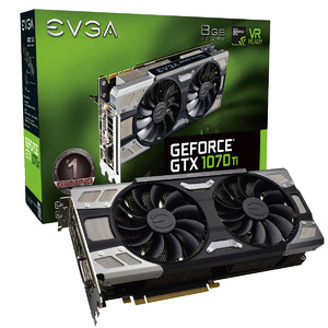 EVGA GeForce GTX 1070 Ti FTW ULTRA SILENT Gaming  8GB GDDR5  ACX 3.0 Graphics Card