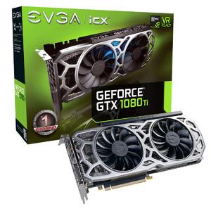 EVGA GeForce GTX 1080 Ti SC2 Gaming  11GB GDDR5X  iCX Technology - 9 Thermal Sensors & RGB LED G/P/M Graphics Card