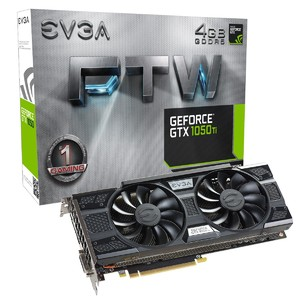 EVGA GeForce GTX 1050 Ti FTW Gaming  4GB GDDR5  ACX 3.0 Graphics Card