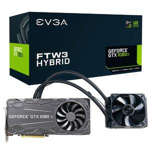 EVGA GeForce GTX 1080 Ti FTW3 HYBRID Gaming  11GB GDDR5X  HYBRID & RGB LED  iCX Technology - 9 Thermal Sensors Graphics Card