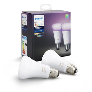 Philips Hue Smart White and Color Ambiance Dual Pack E27