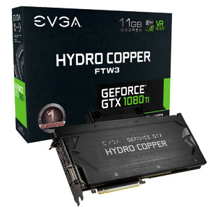 EVGA GeForce GTX 1080 TI FTW3 iCX Hydro Copper Gaming  11GB GDDR5X  Hydro Copper Waterblock & RGB LED  iCX Technology - 9 Thermal Sensors Graphics Card