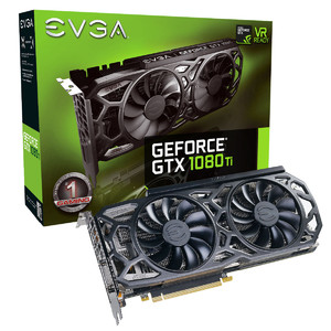 EVGA GeForce GTX 1080 Ti SC Black Edition Gaming  11GB GDDR5X  iCX Cooler & LED Graphics Card