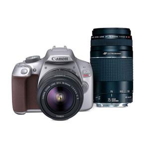 Canon EOS Rebel T6 Gray EF-S 18-55mm f/3.5-5.6 IS II Kit & EF 75-300mm f/4-5.6 III USM