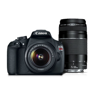 Canon EOS Rebel T5 EF-S 18-55 IS II Lens Kit with EF 75-300mm f/4-5.6 III