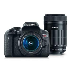 Canon EOS Rebel T6i EF-S 18-55mm IS STM Lens Kit with EF-S 55-250mm IS STM Lens