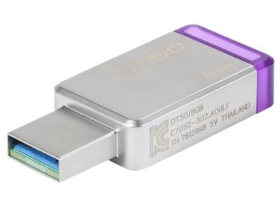 Kingston DT50 8GB USB v3.0 Data Traveler