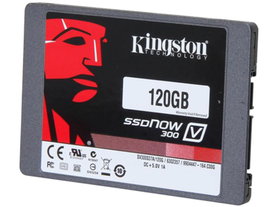 Kingston SV300S37 120GB SSDNow Internal Hard Drive V300 SATA3 2.5 7mm