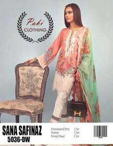 Sana Safinaz Summer Collection Fabric Lawn With Chiffon Dupatta - Replica - Unstitched