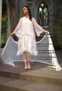 Sobia Nazir Chiffon Dresses - Embroidered Chiffon Dupatta - Replica - Unstitched