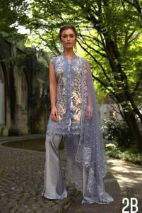 Sobia Nazir Collection Now Available Lawn Alternative Embroided Front - Replica - Unstitched